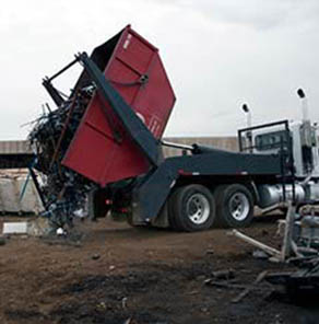 Dumpster Services Throughout Southeast Michigan | Admiral Metals - metal-truck